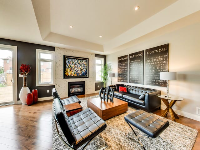 Image of Hickory Heights Model Home Living Room