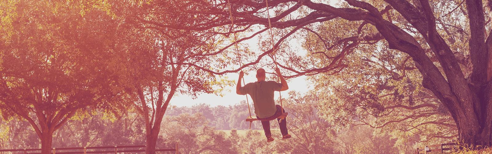 Image of man on swing
