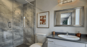 Image of Ironstone Bathroom with Centura Tile