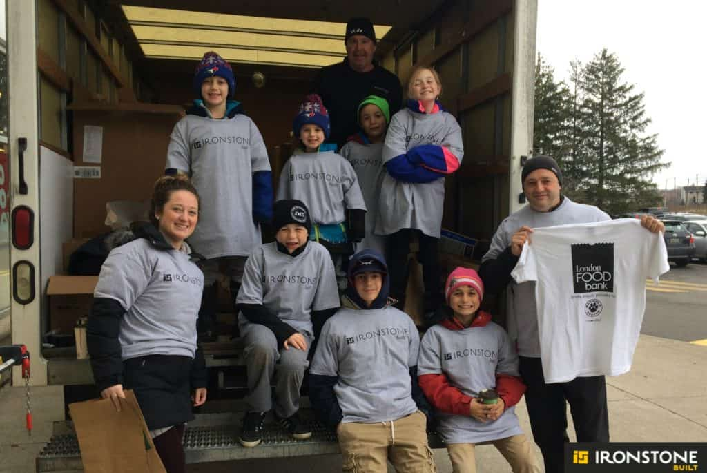 ironstone building company food drive 2016 lhba business cares london food bank
