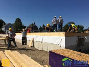 Ironstone Workers working on Habitat for Humanity