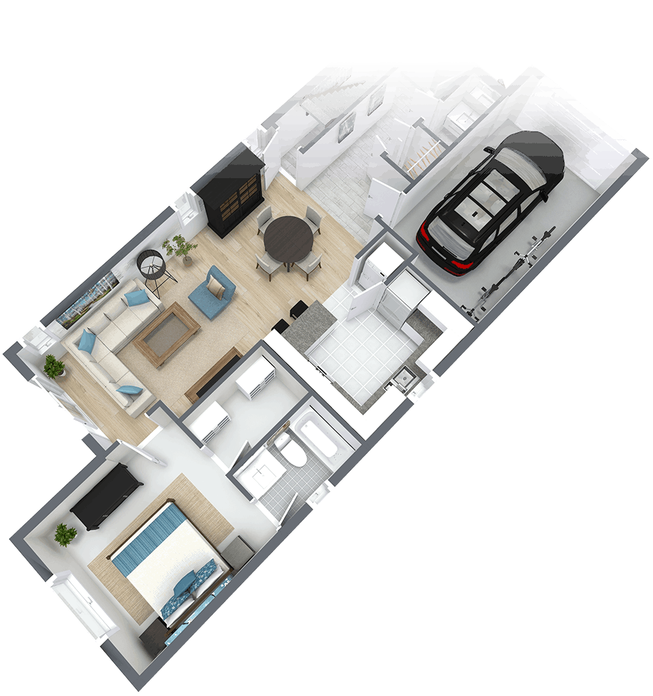 3D Floor Plan of Carmel House for sale in London Ontario