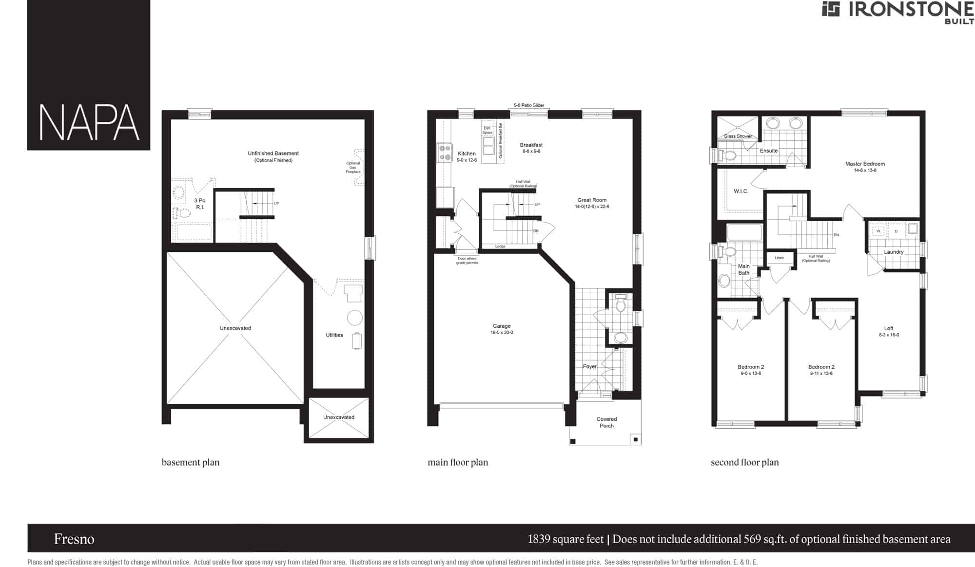 Fresno Single Home London Ontario Floor Plan
