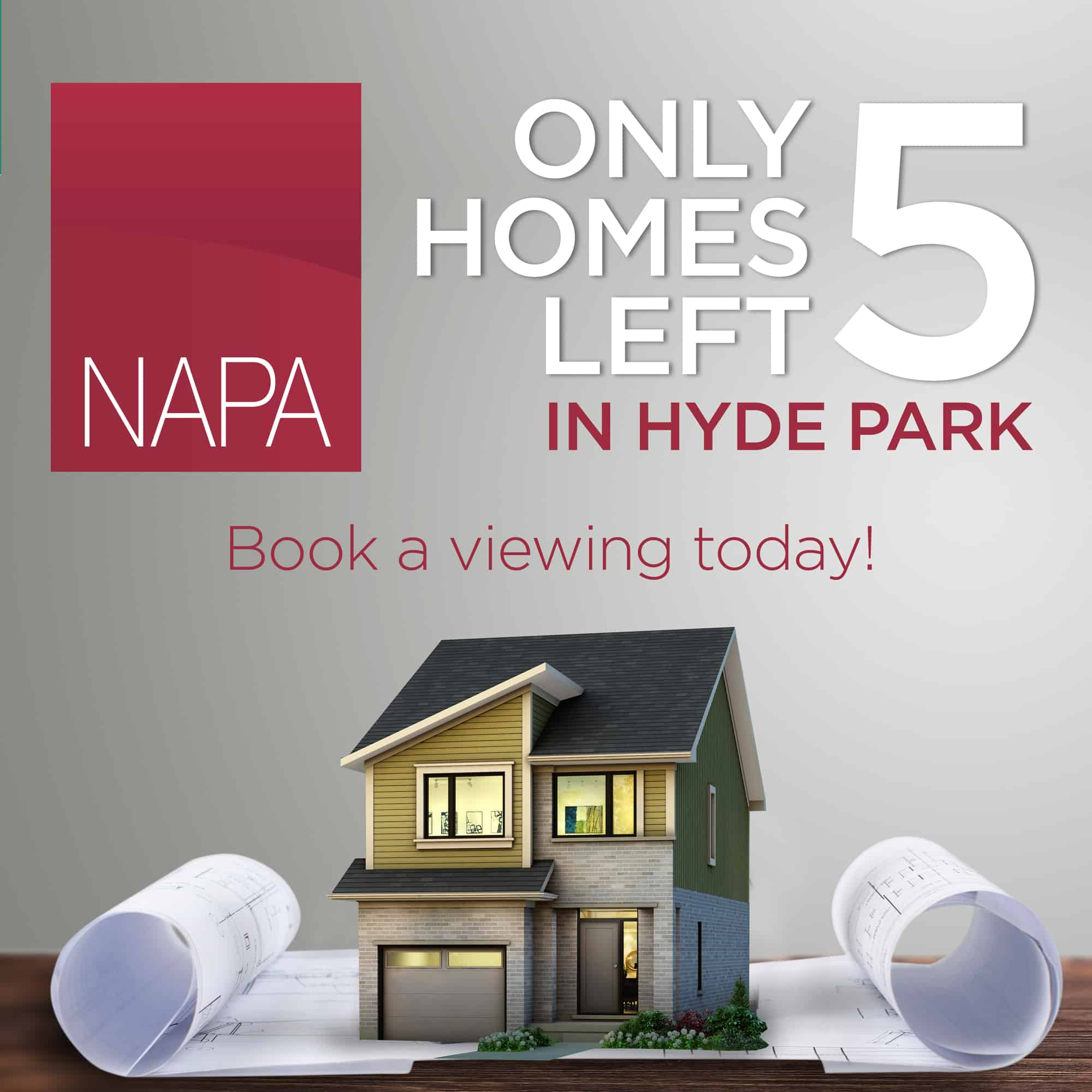 NAPA 5 Homes Left for Sale